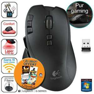 Souris gaming sans fil Logitech G700 + 1 jeu offert