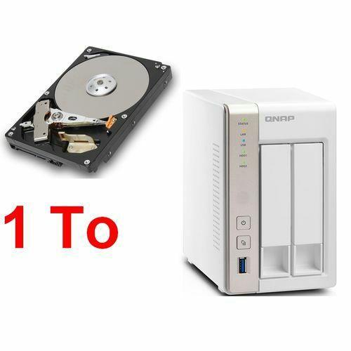 Serveur de stockage NAS QNAP TS-251 - 2 Baies + Disque dur Toshiba DT01ACA100 - 1 To