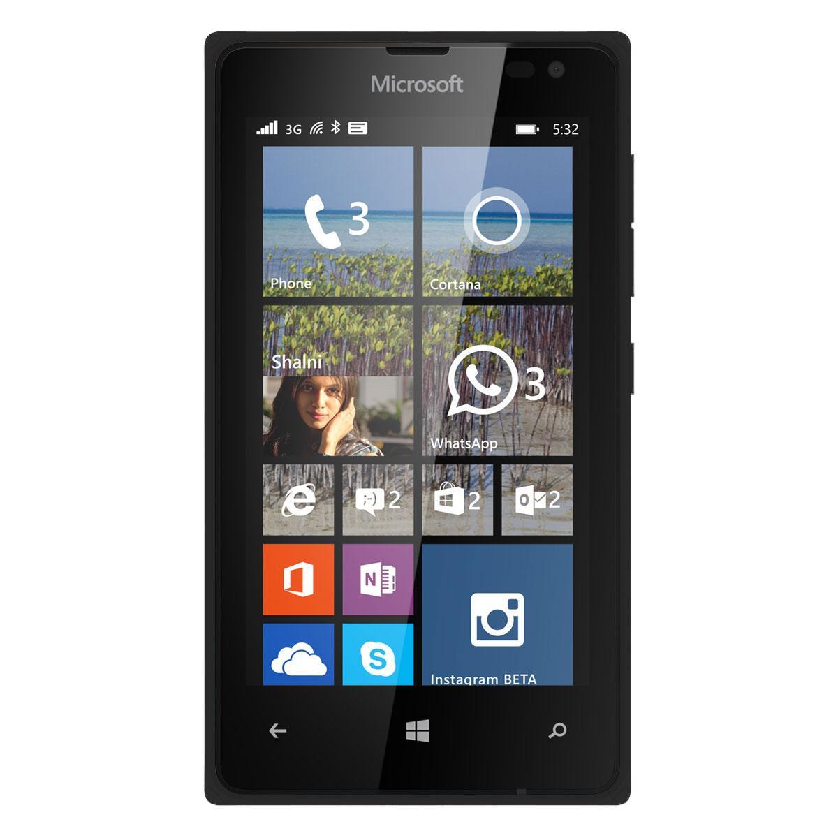 """Smartphone 4"""" Microsoft Lumia 532 3G+ - Noir (via ODR de 20€)"""