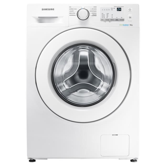 Machine à laver Samsung WW80J3267KW - 8 Kg + 98€ en bon d'achat