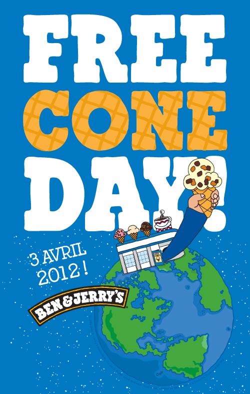 Free Cone Day (Glace Gratuite !)