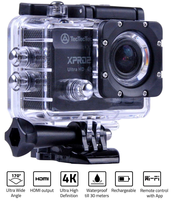 Caméra sportive TecTecTec XPRO2 Caméra Sport - 4K (15im/s), Wifi, 16mpx