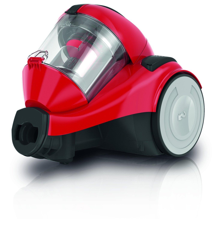 Aspirateur sans Sac Cyclonique Dirt Devil DD2324-4 + Brosse Parquet/Mini Turbo Rouge