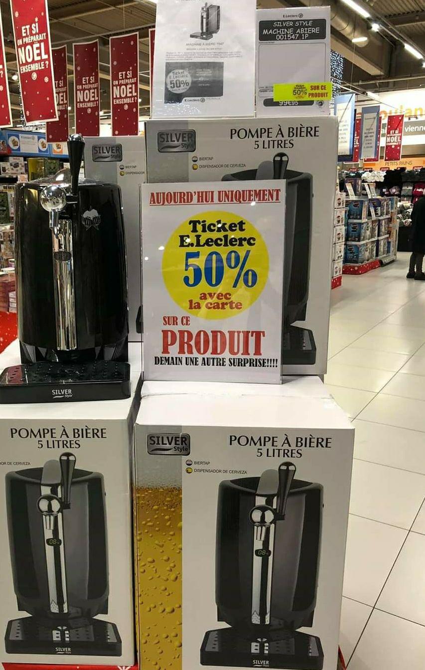 Pompe à bière Silver Style Abière 001547.1P (via 49.98€ sur la carte de fidélité) - Thionville (57)