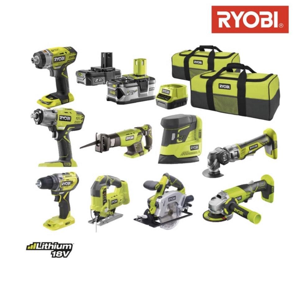 Pack ultra-complet 9 outils Ryobi R18CK9A-242S - 2 batteries 2.0Ah et 4.0Ah - 1 chargeur (espace-bricolage.fr)
