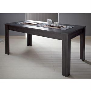 Table 170x90cm coloris chêne cendré noir