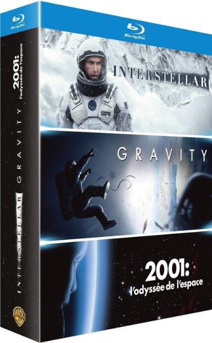 Coffret Blu-Ray : Interstellar + Gravity + 2001, l'odyssée de l'espace