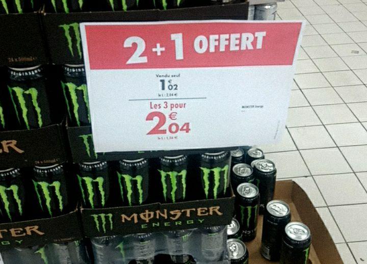 Sélection de Canettes Monster en promotion - Ex : 3 Canettes de Monster Energy Classic (3 x 50 cl)