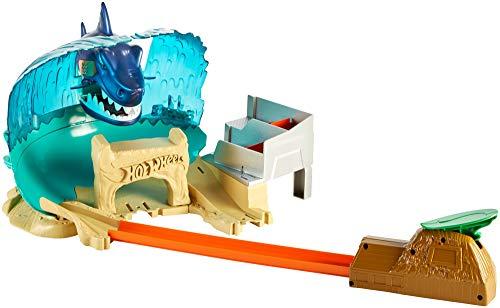 Coffret de jeu pour petites voitures avec circuit et pistes Hot Wheels City Attaque du Requin FNB21