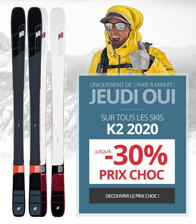 Jusqu'à de 30% de réduction sur les ski K2