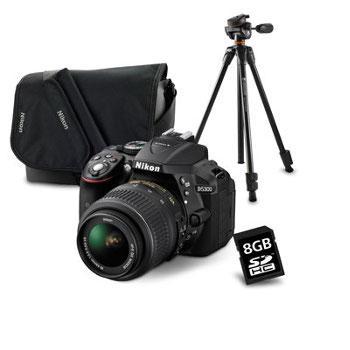 Reflex Nikon D5300 et objectif 18-55mm VR II + carte 8gb + sacoche + trépied (Via ODR 50€)