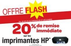 20% de réduction  sur les imprimantes HP