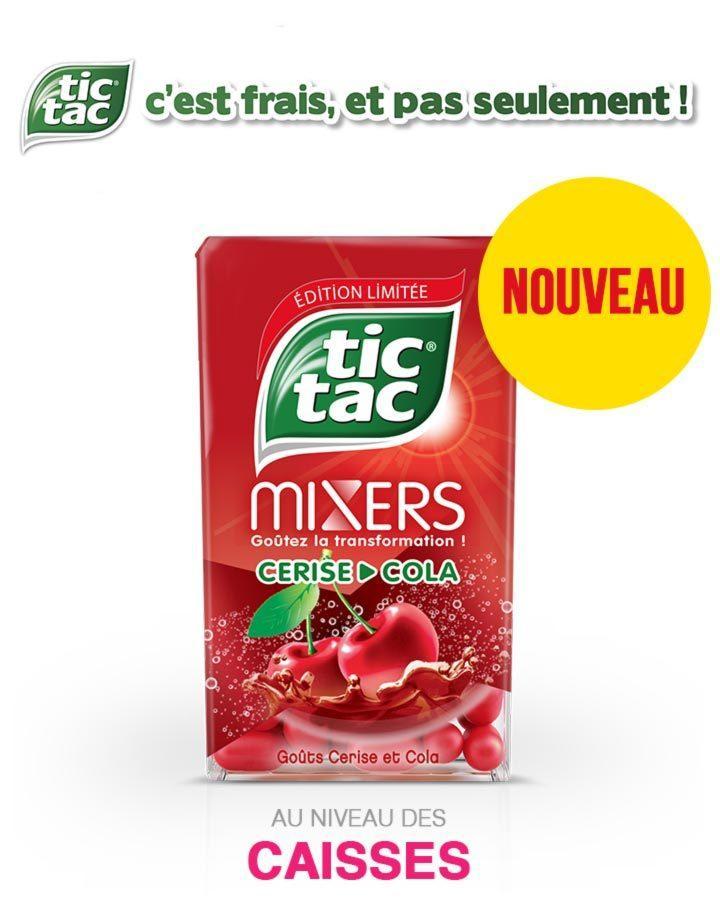 Tic Tac Mixers goûts Cerise et Cola