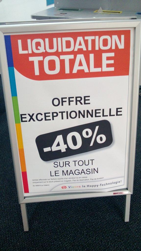 MAJ Liquidation totale : -80% sur tout !!