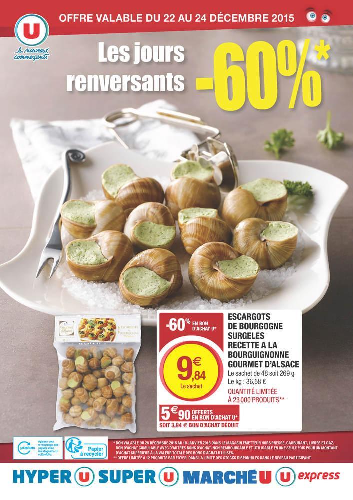 Sachet de 48 Escargots de Bourgogne (avec 5,90€ en bon d'achat U)