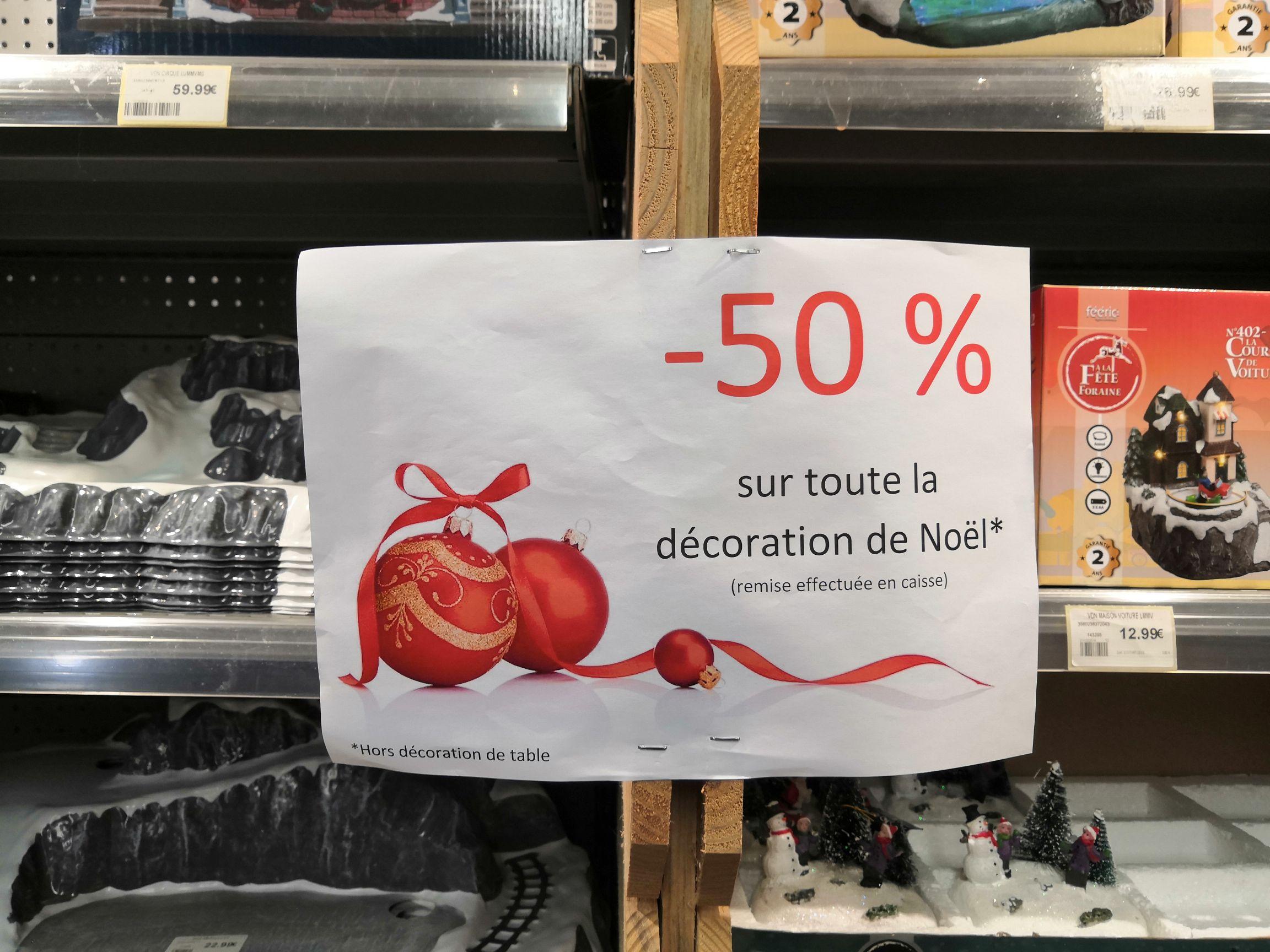 -50% sur toute la décoration de Noël à Ivantout Créon (33)
