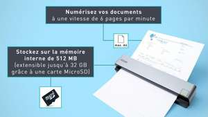 Scanner portable  IRIScan pour documents et cartes de visite