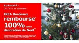 Décorations de Noël et sapins 100% remboursés en 1 bon d'achat