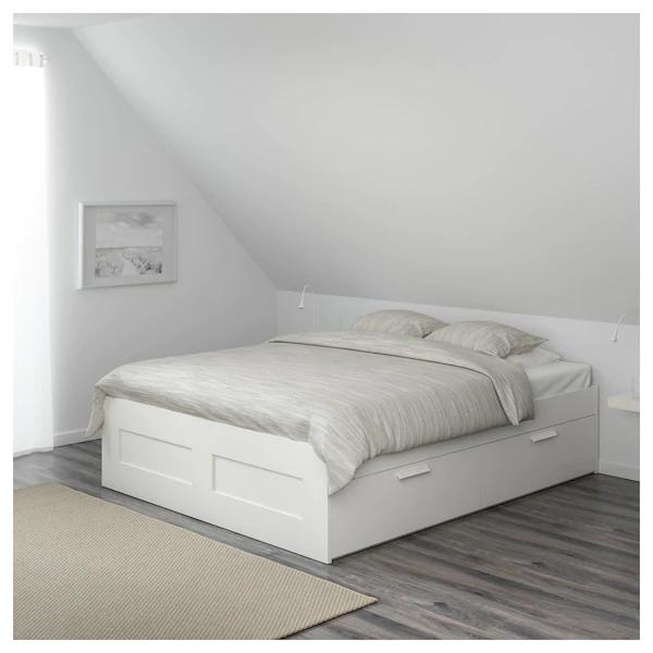 [Ikea family] Cadre lit avec rangement Brimnes - Blanc, 140x200 cm