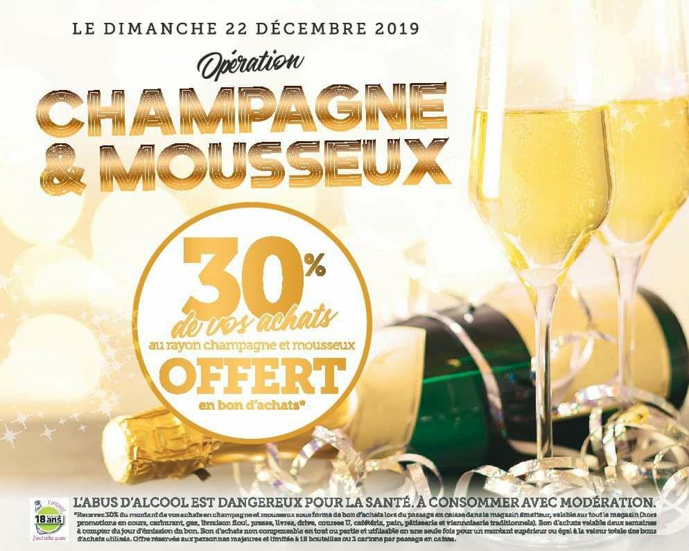 30% remboursés en bons d'achat sur les champagnes et mousseux - Roth Hambach / Gambsheim (57 / 67)