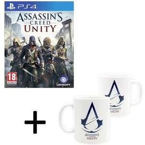 Assassin's Creed Unity sur PS4 + 2 Mugs Assassin's Creed