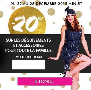 20% de réduction sur les déguisements, les accessoires et la beauté