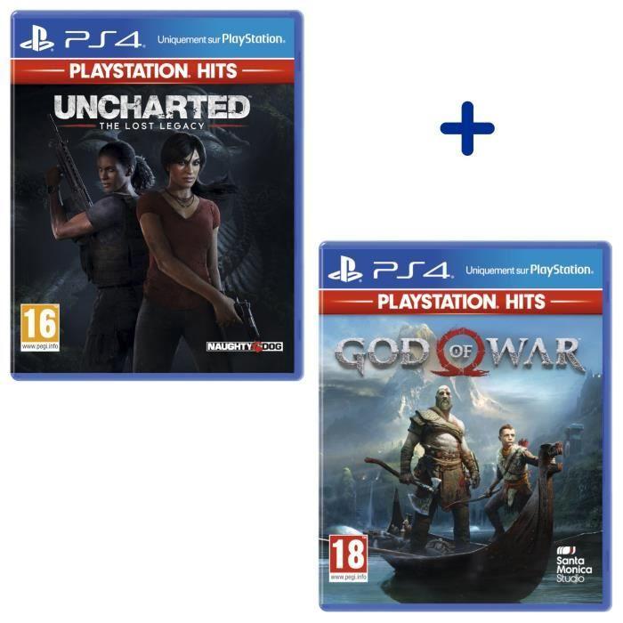 Sélection de Packs PlayStation Hits en Promotion sur PS4 - Ex: Uncharted: The Lost Legacy + God Of War