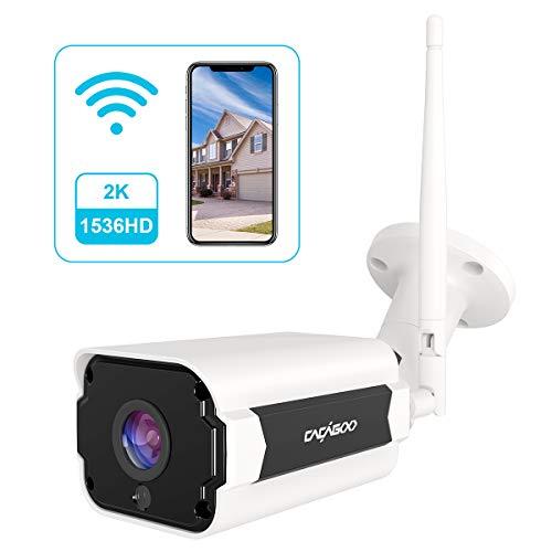 Caméra de Surveillance WiFi Extérieure Cacagoo - Etanche, IP66 avec Audio Bidirectionnel, Vision Nocturne (Vendeur Tiers)