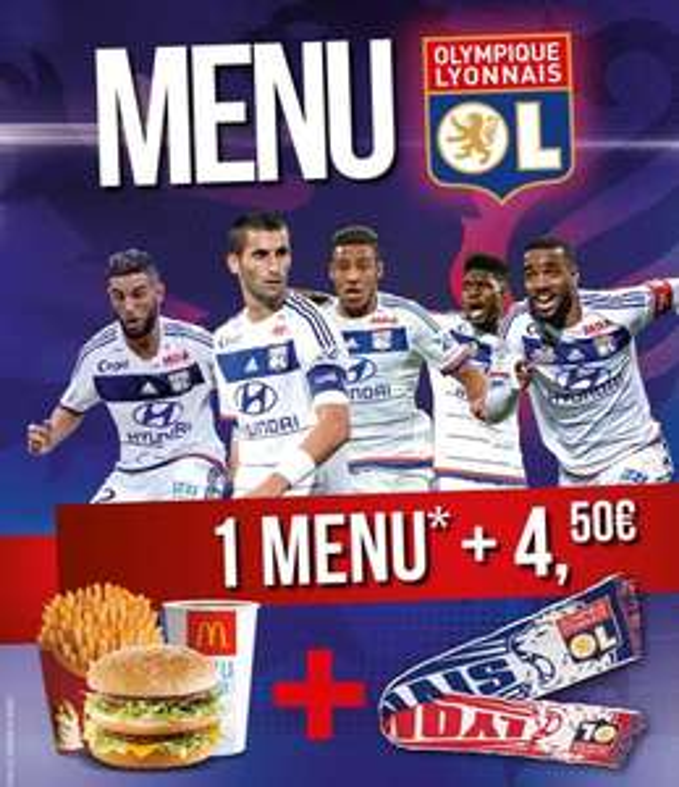 Un menu acheté + 4.50€ = 1 écharpe offerte