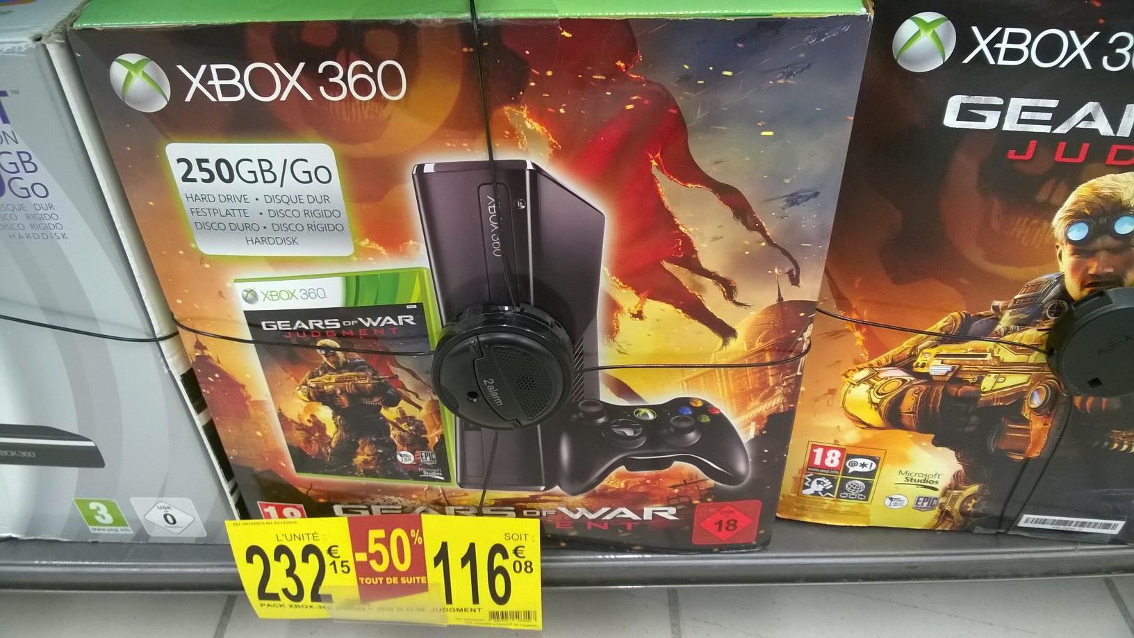 50% de réduction sur une sélection de Packs Xbox 360 - Ex: Console Xbox 360 250 Go + Gears of War Judgment