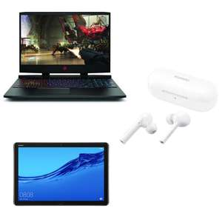 "Sélection Packs PC Portable + Huawei MediaPad M5 Lite + Freebuds Lite - Ex: 15.6"" HP Omen 15-dc1053nf (144Hz, i5-9300H, RTX 2060) - ODR 30€"