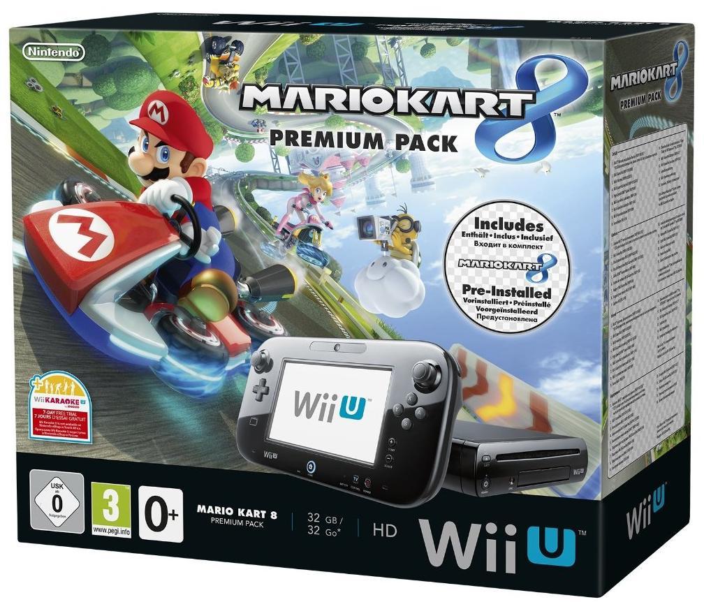 Pack Premium Wii U 32 Go Mario Kart 8 + Télécommande Wii U Plus