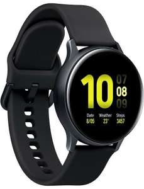 Montre connectée Samsung Galaxy Watch Active 2 - 40 mm, aluminium, noir (via ODR de 30€, 235.74€ via ADVDA25) - vendeur Carrefour
