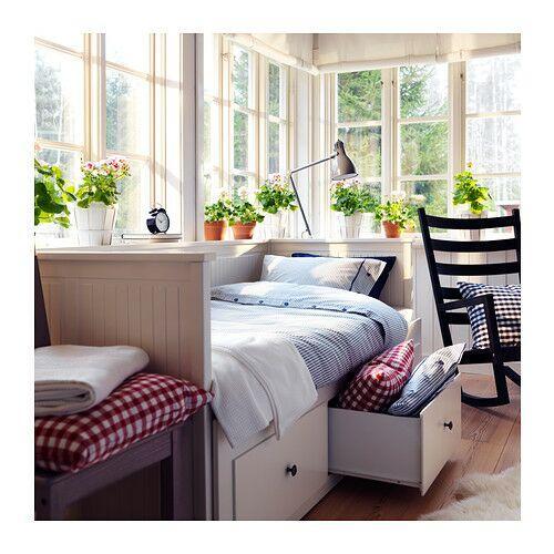 [Ikea Family] Structure divan Hemnes avec 3 tiroirs, blanc