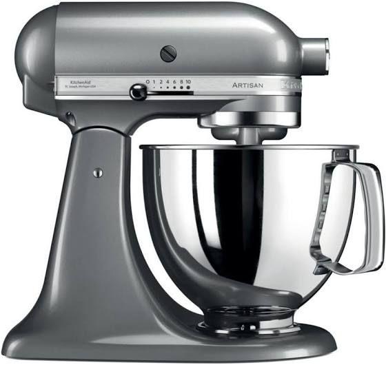 Robot pâtissier KitchenAid Artisan 5KSM125ECU - 300 W, Gris argenté (349€ avec le code FETES2019)