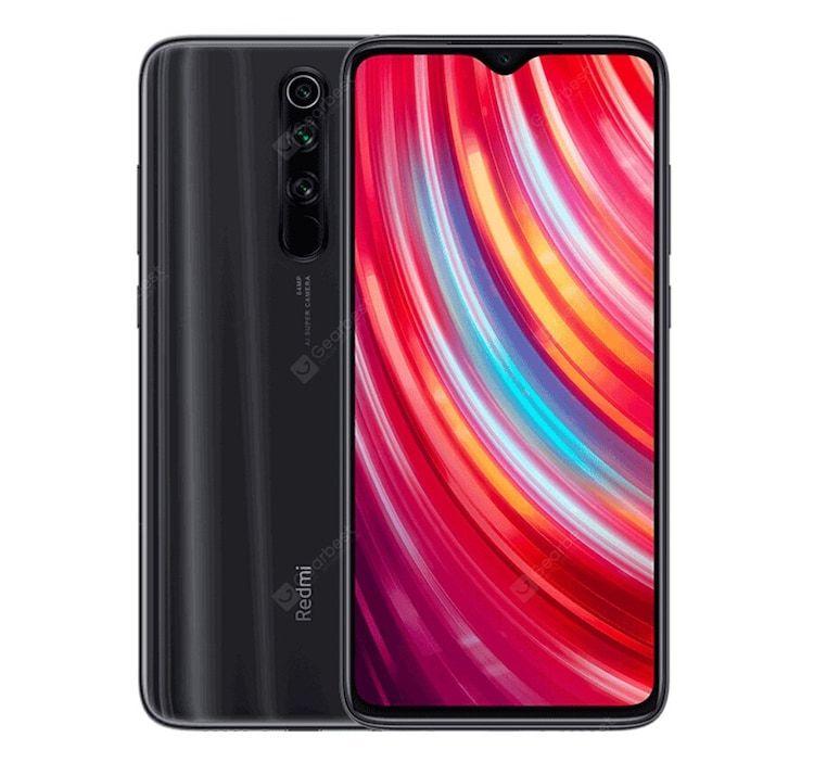 Smartphone 6.53'' Xiaomi Redmi Note 8 Pro - 6 Go RAM, 64 Go, Gris Minéral (Global Version)