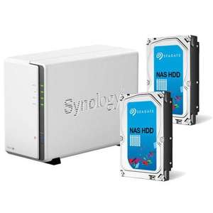 Pack Nas Synology DiskStation DS215j + 2 x Disque dur Seagate Nas HDD 2 To