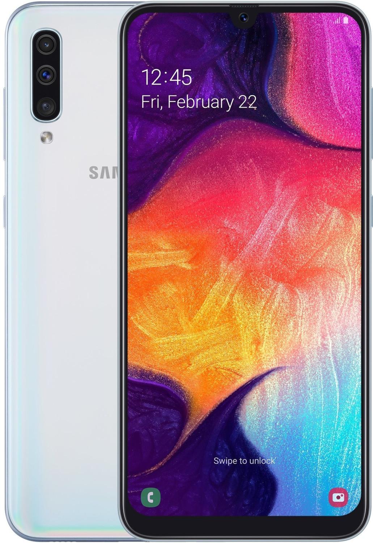 "Smartphone 6.4"" Samsung Galaxy A50 - full HD+, Exynos 9610, 4 Go de RAM, 128 Go, différents coloris"