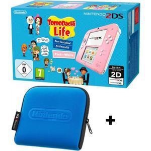 Pack Console Nintendo 2DS + Jeu Tomodachi Life ou New Super Mario Bros 2 + Housse Officielle Nintendo