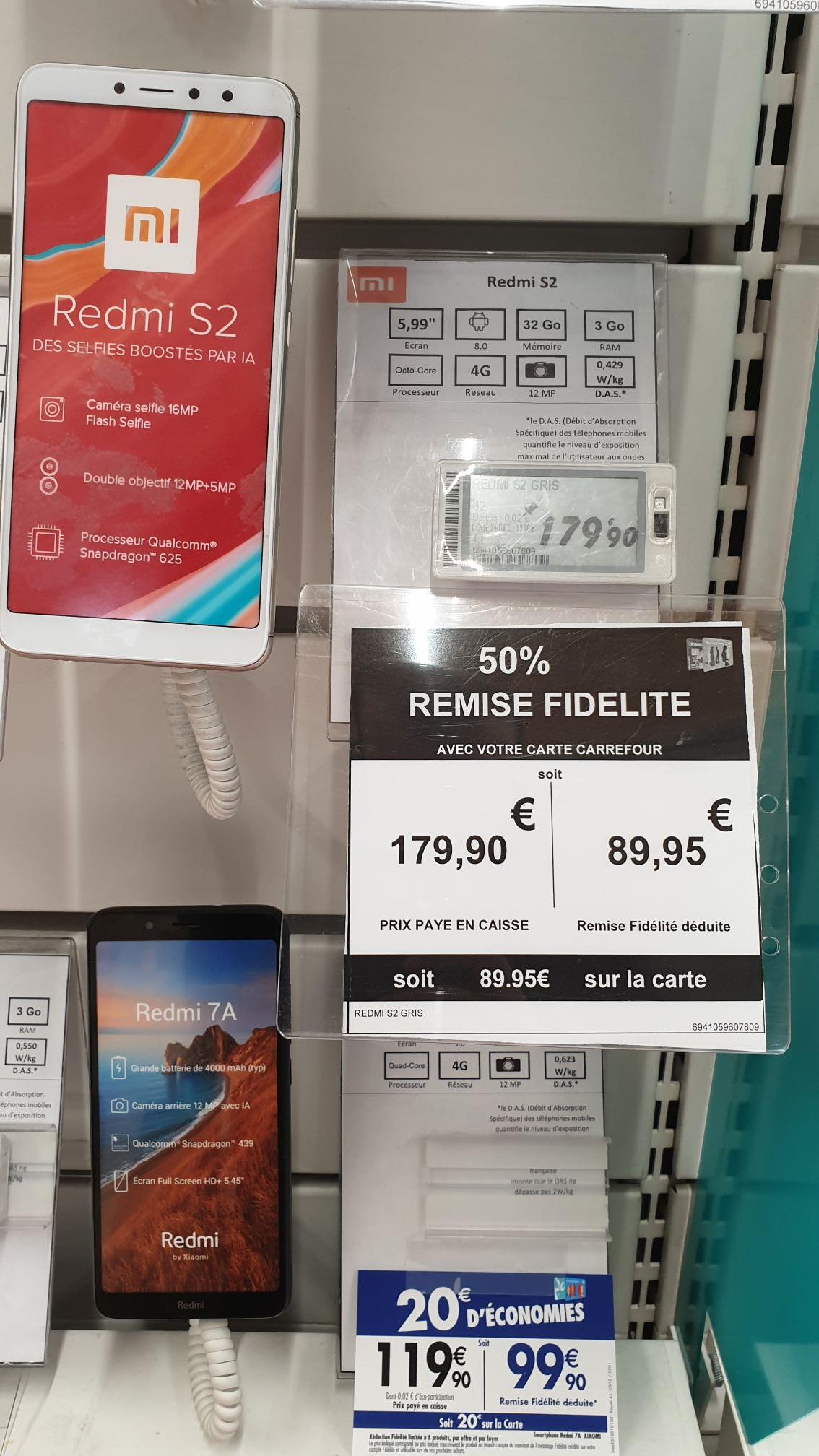 "Smartphone 5.99"" Xiaomi Redmi S2 - Carrefour de Villeneuve-la-Garenne (92)"