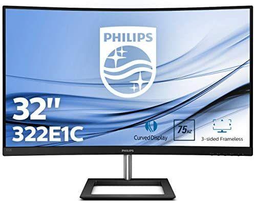 """Ecran PC 32"""" Philips 322E1C/00 - Incurvé, Full HD, Dalle VA, 75Hz, FreeSync"""