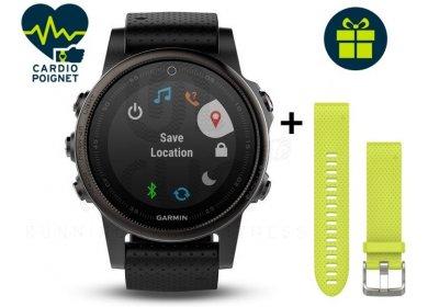 Montre connectée Garmin Fenix 5S Sapphire black + bracelet QuickFit