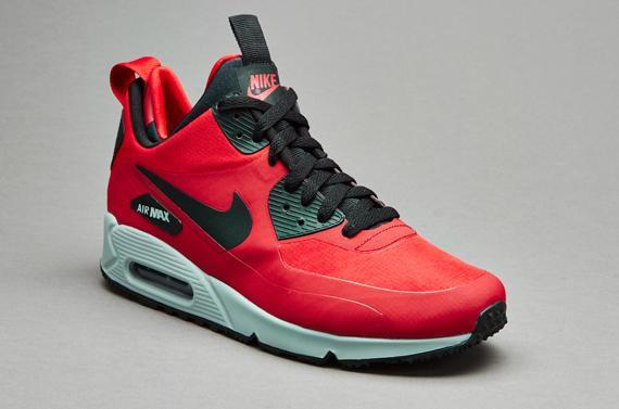 Baskets Nike Air Max 90 Mid Winter - Rouge/Noir/Gros