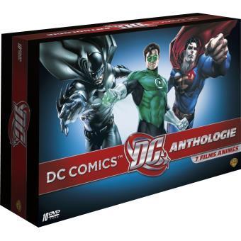 Coffret DC Comics Animation - 10 DVD + Livre