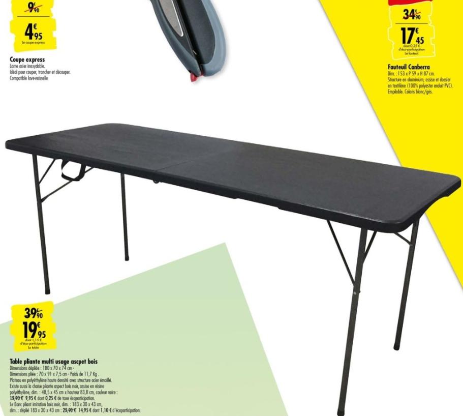 Bons Plans Tables De Camping Promotions En Ligne Et En Magasin Dealabs
