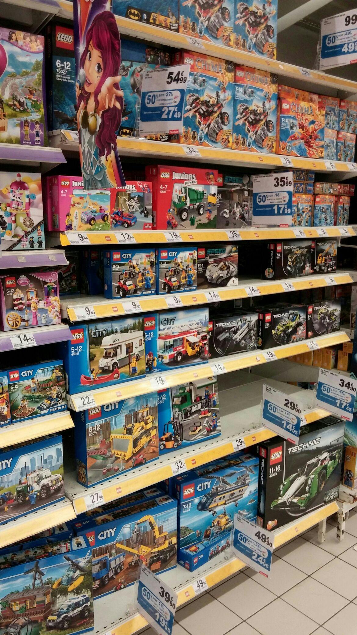 50% crédités sur la carte Waooh sur une sélection de jouets (Lego, Playmobil, Meccano etc) - Ex : Lego 60093 L'Hélicoptère de Mer