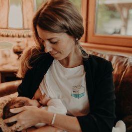 "T-shirt d'allaitement ""Take Away Milk"" Tajine Banane (petitbailly.com)"