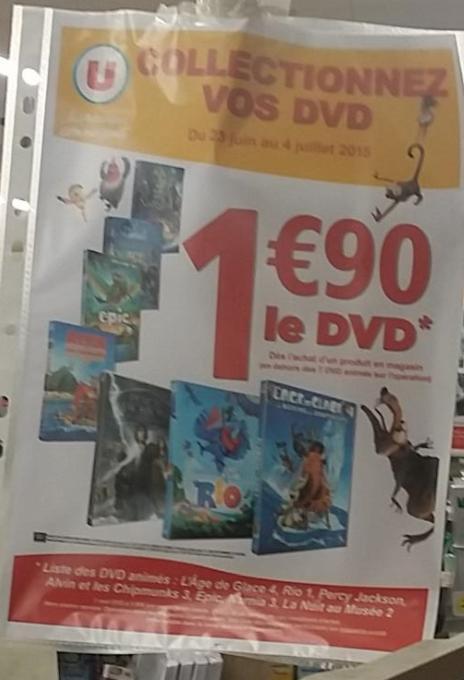Sélection de DVD - Ex: l'Age de glace 4