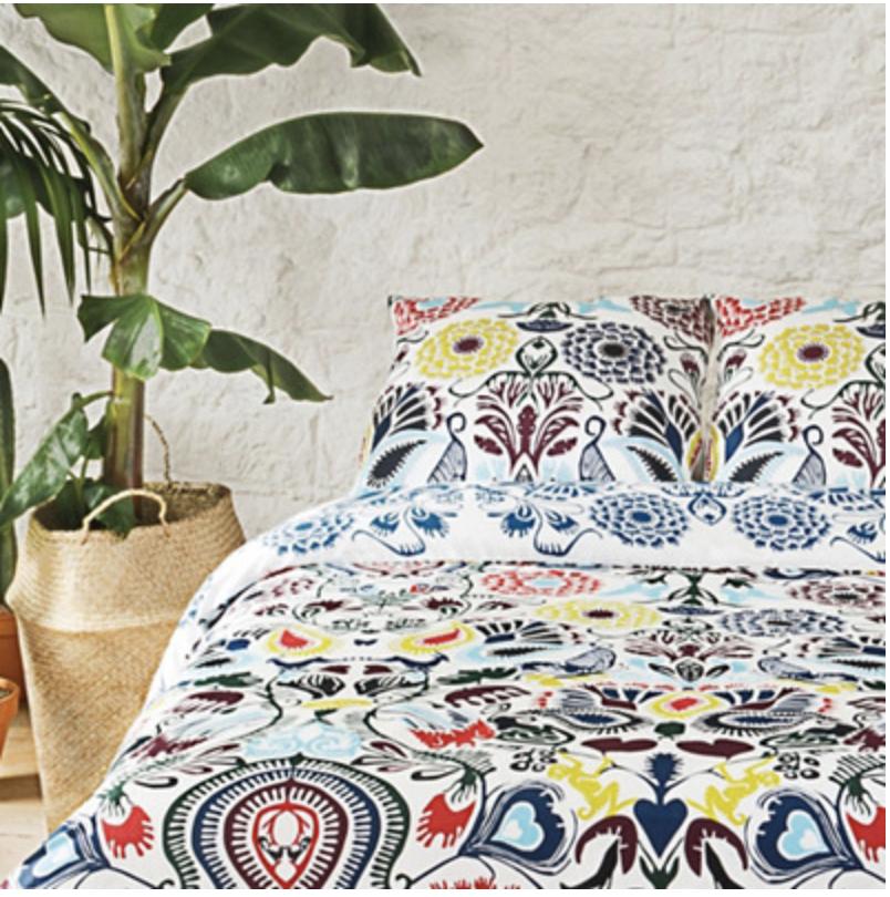 Parure de lit Christian Lacroix Home - housse de couette (220x240 cm, 200 fils/cm2) + 2 taies d'oreiller (65x65 cm)