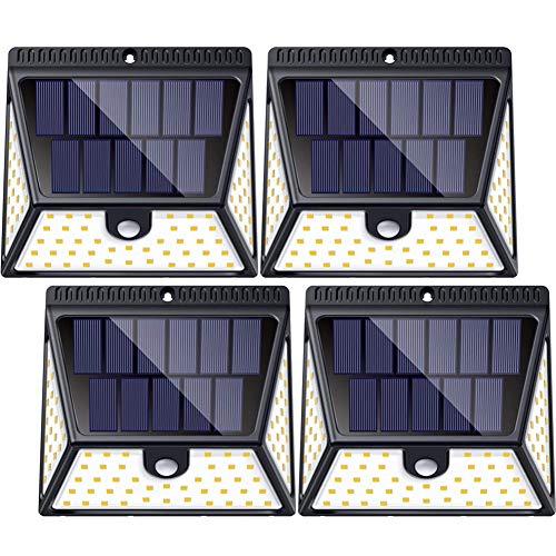 Pack de 4 Lampes Solaires d'Extérieur Luposwiten 82 LED - 2600mah (vendeur tiers)